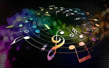 Colorful Musical Notes MacBook Air wallpaper