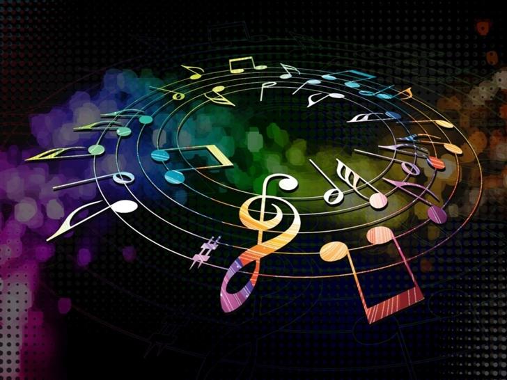 Colorful Musical Notes Mac Wallpaper