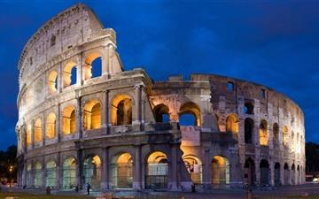 Colosseum By Night  Mac wallpaper