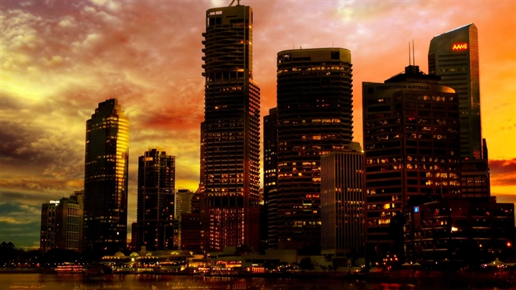 Skyscrapers In The Sunset Mac Wallpaper