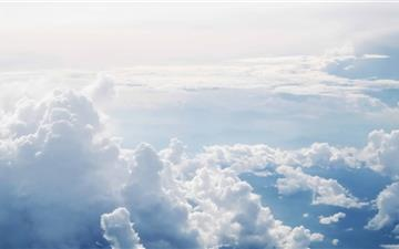 Clouds Aerial Photography Mac wallpaper