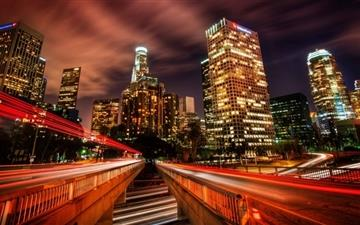 Downtown Los Angeles At Night Mac wallpaper