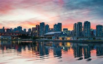 Vancouver Sunset Mac wallpaper