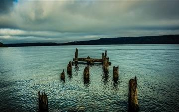 An Old Dock In The Lake Mac wallpaper