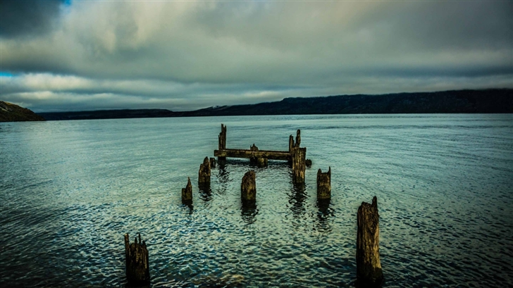 An Old Dock In The Lake Mac Wallpaper