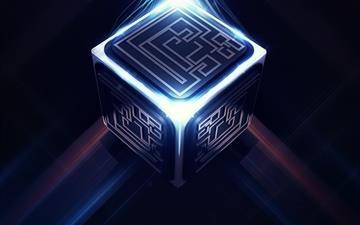 3D Cube Maze Mac wallpaper