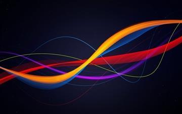 Colorful Curves Mac wallpaper