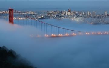 Blue Golden Gate Mac wallpaper