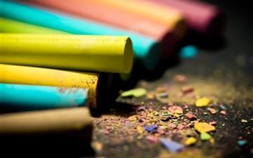 Colored chalk Mac wallpaper