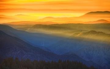 Amazing Sunset In Yosemite Mac wallpaper