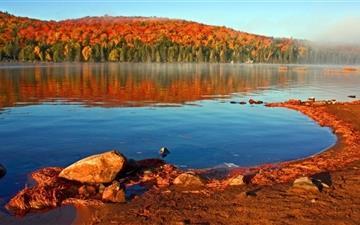 Lake Shore Autumn Mac wallpaper