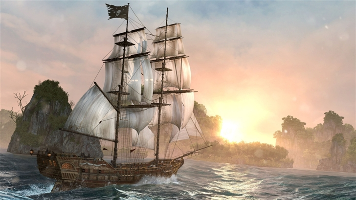 Assassins Creed Back Flag Ship Mac Wallpaper
