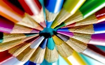 Colorful Pencils Circle Mac wallpaper