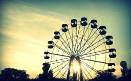 Sunlight Through Ferris Wheel
