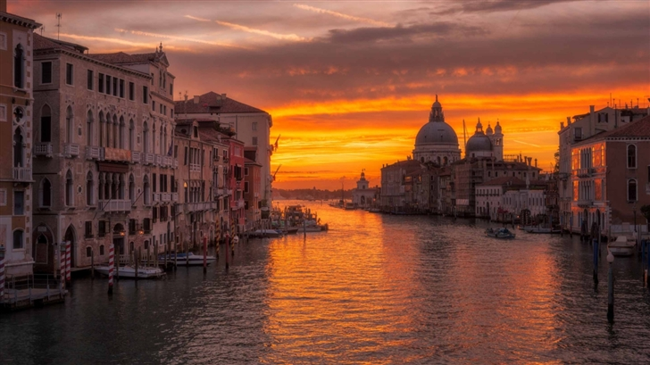 Venice Sunrise Mac Wallpaper Download Allmacwallpaper
