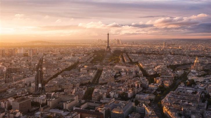 Paris Panoramic View Mac Wallpaper