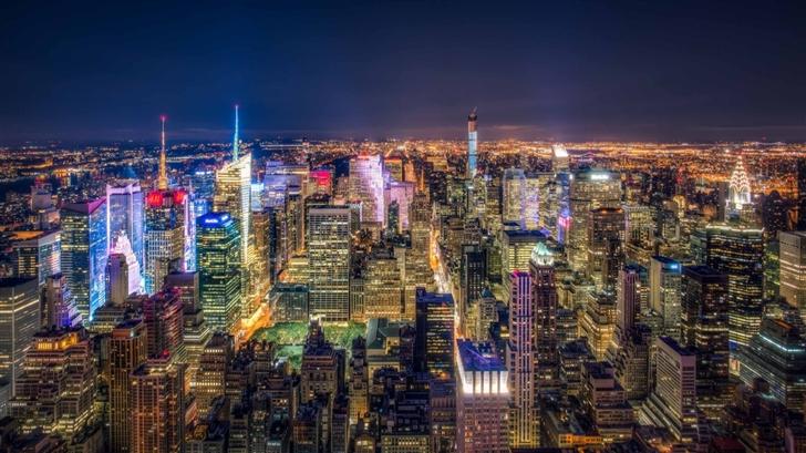Manhattan Aerial View Mac Wallpaper