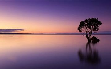 Calm Ocean Dusk All Mac wallpaper
