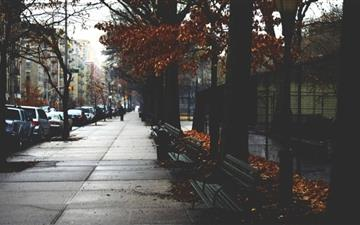 Cold Autumn Day In New York Mac wallpaper