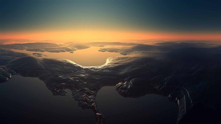 Aerial View Mac Wallpaper