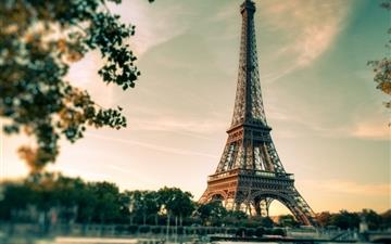 Lovely Eiffel Tower View Mac wallpaper