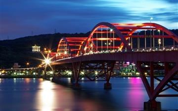 Guandu Bridge Taiwan Mac wallpaper